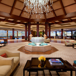 <p>Panoramic lobby views welcome guests to St. Regis Princeville. // © 2017 St. Regis Princeville Resort</p><p>Feature image (above): St. Regis...