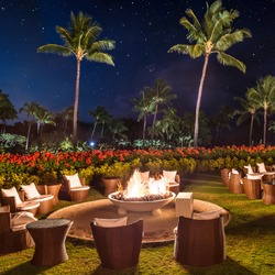 <p>Each evening, families and friends can swap stories around the hotel's new fire pits. // © 2015 Grand Hyatt Kauai Resort and Spa</p><p>Feature...