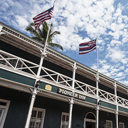 <p>Since 1901, the Pioneer Inn has been welcoming guests to Lahaina on Maui. // © 2015 HTA/Tor Johnson</p><p>Feature image (above): The Moana...