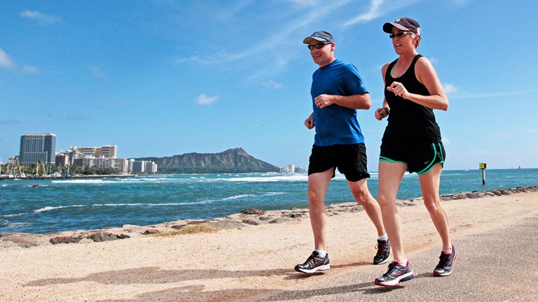 Clients who take part in the hotel's QK Run Club discover Waikiki's best running routes.