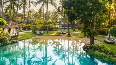 The Laguna has seven landscaped lagoons and pools. // © 2017 The Laguna, a Luxury Collection Resort & Spa, Nusa Dua, Bali 2