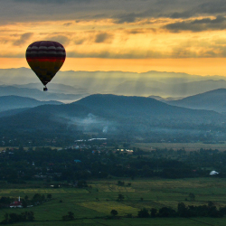 <p>Take in a bird's-eye view of Chiang Mai from a hot-air balloon. // © 2017 Balloon Adventure Thailand</p><p>Feature image (above): Chiang Mai offers...