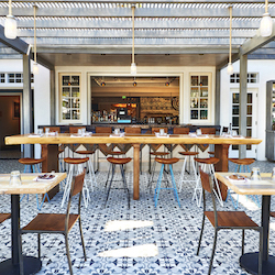 <p>The Goodland's on-site Outpost Restaurant attracts guests and locals with snacks inspired by both Santa Barbara and international cuisine. // ©...
