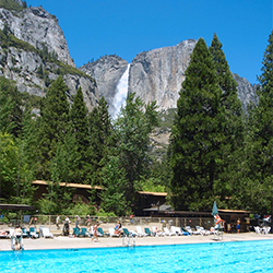<p>A pool with a view of Yosemite Falls // © 2015 Yosemite Lodge at the Falls</p><p>Feature image (above): Salish Lodge & Spa is set over the...