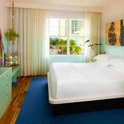 Guestrooms at The Hall in Miami will reflect the vibrant local culture. // © 2015 Joie de Vivre Hotels