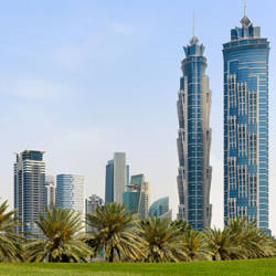 The 72-story JW Marriott Marquis Dubai is the World's Tallest Hotel. // © 2013 JW Marriott