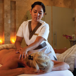 Couples enjoy a massage at Rosewood San Miguel. // © 2014 Hotel Matilda