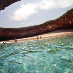 Riviera Nayarit's Hidden Beach is a highlight of the Marieta Islands. // © 2014 Riviera Nayarit Tourist Convention and Visitor Bureau