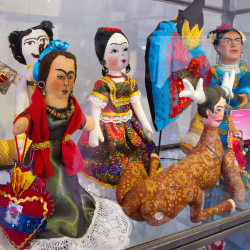 <p>Frida Kahlo dolls at the Toy Museum in San Miguel de Allende // © 2014 Janice Mucalov</p><p>Feature image above: The Mummy Museum displays more...
