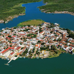 <p>An aerial view of Mexcaltitan // © 2014 Office of Conventions and Visitors of Riviera Nayarit</p><p>Feature image (above): The island village is...