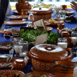 <p>De La Chinampa serves organic meals on tours. // © 2015  Mindy Poder</p><p>Feature image (above): The canals of Xochimilco are all that remain of...