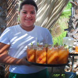 "<p>Farm Bar at Flora's Field Kitchen serves ""Farmaritas"" made with carrots. // © 2015 Debbie Olsen</p><p>Feature image (above): El Farallon at The..."