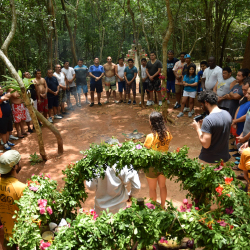 <p>Teams can learn about ancient Maya ceremonies and traditions. // © 2015 All Tournative</p><p>Feature image (above): The Rio Secreto cenote is a hot...