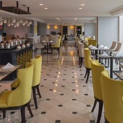 <p>The renovated Club Lounge is open throughout the day and offers buffet-style dining. // © 2017 Sheraton Mexico City Maria Isabel...