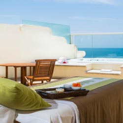 <p>Guests who really want to maintain their fitness should consider booking a room that caters to them, such as the Wellness Suite at Grand Velas...