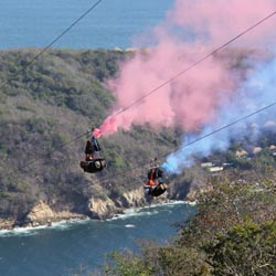 <p>The new Xtasea in Acapulco is billed as the world's longest overwater zipline. // © 2017 Mark Chesnut/LatinFlyer.com</p><p>Featured image (above):...