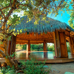 <p>Riviera Nayarit's Hamara Retreat is a yoga-oriented property with no electricity. // © 2014 Haramara Retreat</p><p>Feature image (above): The...