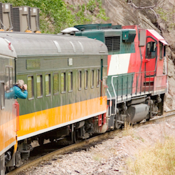 One of the best ways to explore Copper Canyon is by riding the Chihuahua al Pacifico train. // © 2014 Thinkstock