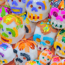 <p>Sugar skulls are used to decorate graves and altars during the holiday. // © 2015 iStock</p><p>Feature image (above): Sandos Caracol offers a...