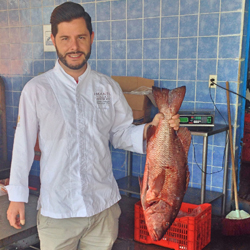 <p>Guests at Imanta Resort Punta de Mita can accompany chef Olivier Deboise while he shops for ingredients at a local fish market. // © 2015 Relais...