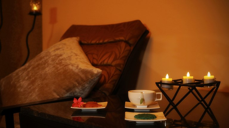 Spa treatments at Grand Residences spa include facials, body wraps and milk baths.