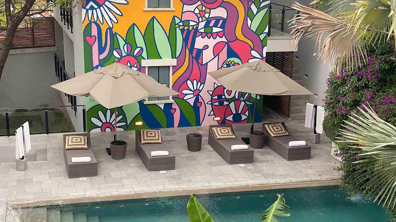 The pool at Hotel Matilda
