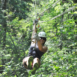 <p>Mazatlan visitors seeking an adrenaline rush might zipline at Huana Coa Canopy Adventure's facility outside of the city. // © 2014 Mazatlan Tourism...