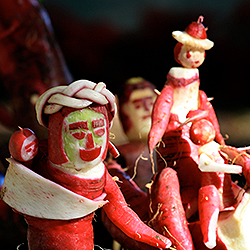 "<p>""Noche de Rabanos,"" or Night of the Radishes, features creative designs and carvings in celebration of the local radish. // © 2015 Creative Commons..."