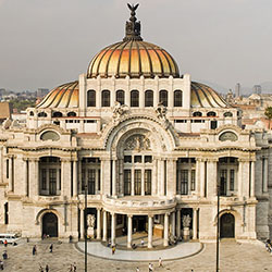 <p>Palacio de Bellas Artes is a performing-arts center in the historic city center. // © 2015 Mexico Tourism Board</p><p>Feature image (above): Mexico...