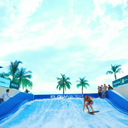<p>At Palace Resort's Moon Palace Golf & Spa Resort, guests can try out the FlowRider surf experience. // © 2015 Palace Resorts</p><p>Feature...