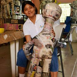 <p>Travelfuture volunteers might make pinatas with local children, who can then sell them to help support their families. // © 2014...