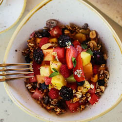 <p>Chable Resort & Spa offers many plant-based options, such as breakfast granola. // © 2017 Chable Resort & Spa</p><p>Feature image (above):...