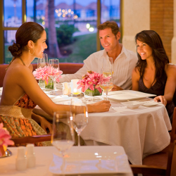 <p>The JW Marriott Cancun offers upscale dining. // © 2014 Marriott</p><p>Feature image (above): Champions Bar at the CasaMagna Marriott gives...