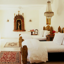 <p>The San Gabriel Suite at Hacienda San Angel is decorated with hand-carved furnishings and antiques. // © 2014 Hacienda San Angel</p><p>Feature...