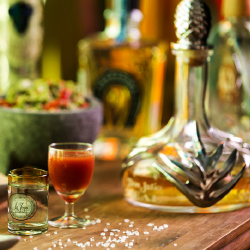 <p>Tequila tastings are available on-site. // © 2015 Fiesta Americana Grand Coral Beach Cancun</p><p>Feature image (above): The resort's...