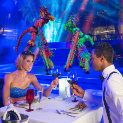 <p>Clients can enjoy the Red Circus at Oasis properties. // © 2015 Oasis Hotels & Resorts</p><p>Feature image (above): Guests can watch Broadway...