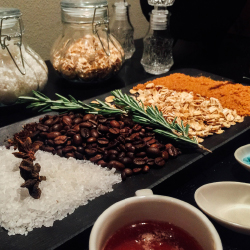 <p>Clients can create their own DIY spa scrub. // © 2017 Michelle Rae Uy</p><p>Feature image (above): The property features three ocean-facing...