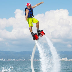 The Flyboard Experience from Grand Velas Riviera Nayarit is designed to attract adventurous guests. © // 2014 Velas Resorts