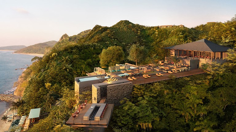The Plateau at One&Only Mandarina will offer dining for the whole family and feature sweeping sea and jungle views.