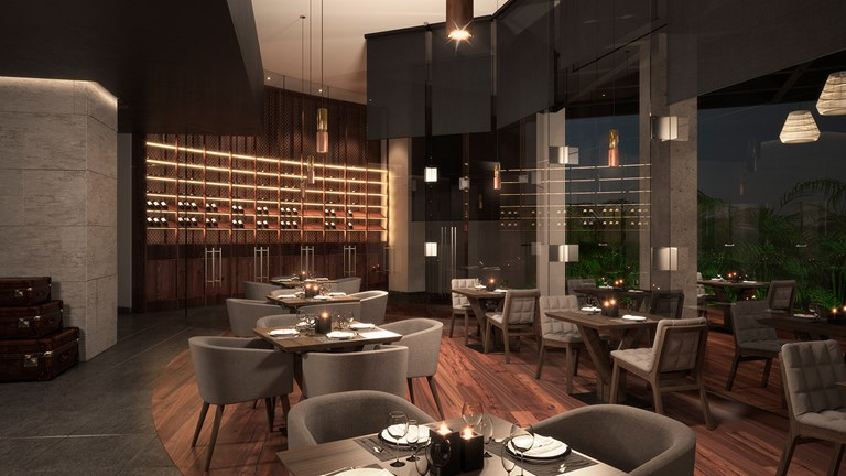 Enjoy fine dining at on-site MB Restaurant.