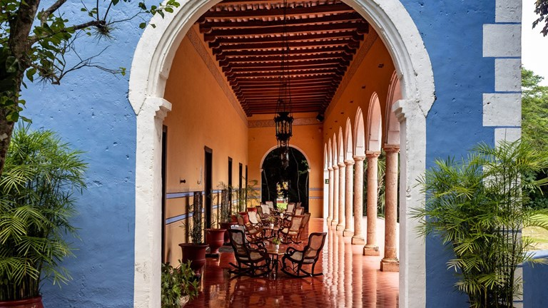 Santa Rosa is the smallest of Marriott's haciendas in the Yucatan at just 11 guestrooms.
