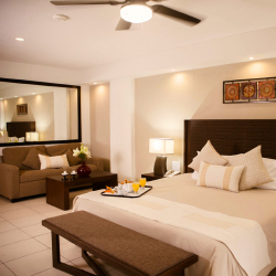 A renovated adults-only suite at Costa Sur Resort & Spa // © 2015 Costa Sur Puerto Vallarta