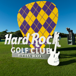 A rock-themed clubhouse is part of the new Hard Rock Golf Club Riviera Maya experience. // © 2015 Hard Rock Hotels