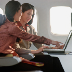 <p>Ninety-one percent of airlines will provide wireless in-flight services for passengers. // © 2017 Getty Images</p><p>Feature image (above): Expect...