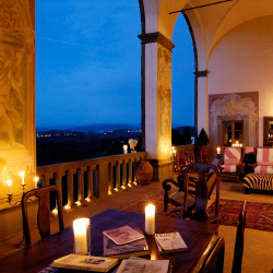 <p>A lounge at Villa Machiavelli // © 2015 Villas of Distinction</p><p>Feature image (above): Italy's Villa Machiavelli // © 2015 Villas of...