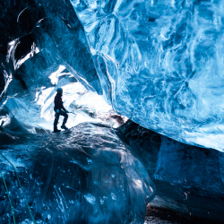 <p>A temporary ice cave in Iceland's Vatnajokull glacier // © 2015 iStock</p><p>Feature image (above): The Dead Sea marks Earth's lowest point. // ©...