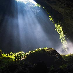 <p>Located in Vietnam, Hang Son Doong Cave is the largest cave on earth by volume. // © 2016 Oxalis Adventure Tours/Thuan Thang</p><p>Feature image...