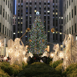 One of the most iconic symbols of Christmas is the tree at Rockefeller Center in New York City. // © 2013 Thinkstock