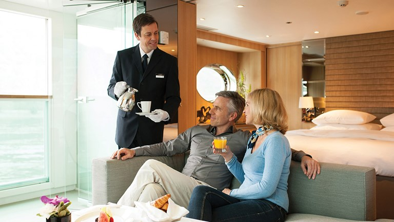 There are a plethora of luxury cruise amenites, such as butler service on Scenic sailings.