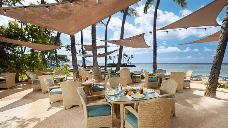 Rent out a venue such as The Kahala's Seaside Grill for a memorable proposal.